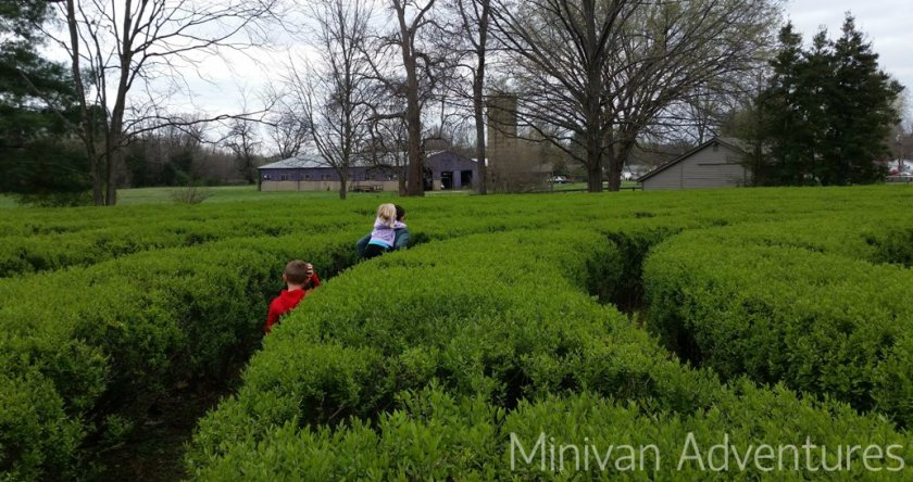 We loved exploring the two labyrinths in New Harmony, Indiana.
