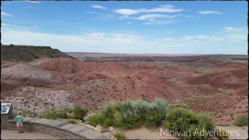 We planned big and little stops that would interest everyone in the family. Our first major planned stop was the Painted Desert and Petrified Forest in Arizona.