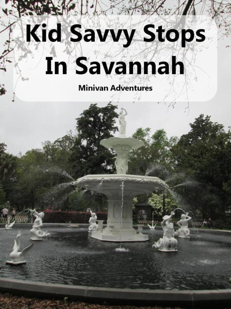 Savannah, Georgia is a great vacation destination for families.