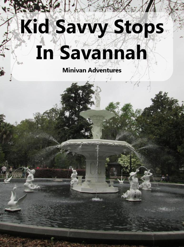 Savannah, Georgia is a great vacation destination for families.
