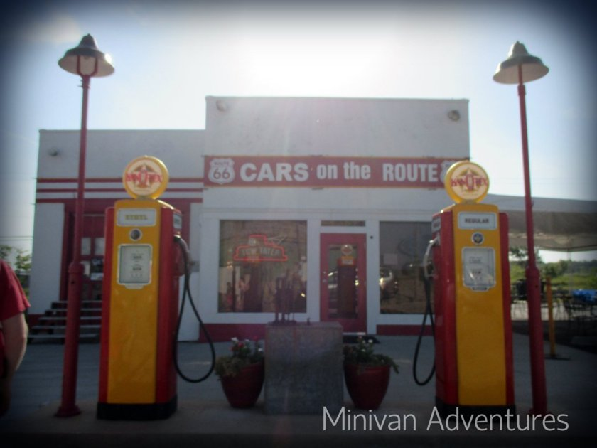 Cars on the Route is a remodeled gas station with a mining boom truck (like Tow Mater) on display.