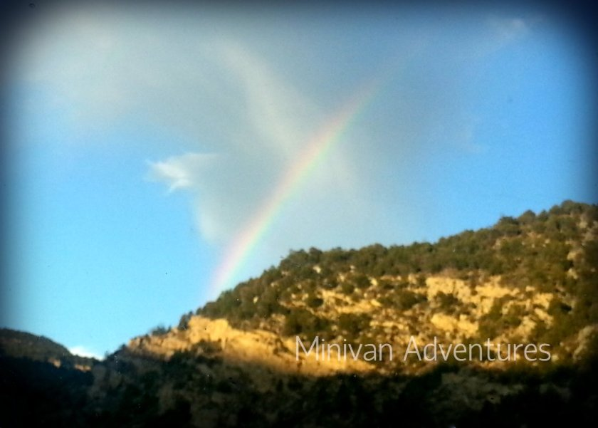 Here is one of the 2 amazing rainbows we saw once the rain stopped and the skies cleared.