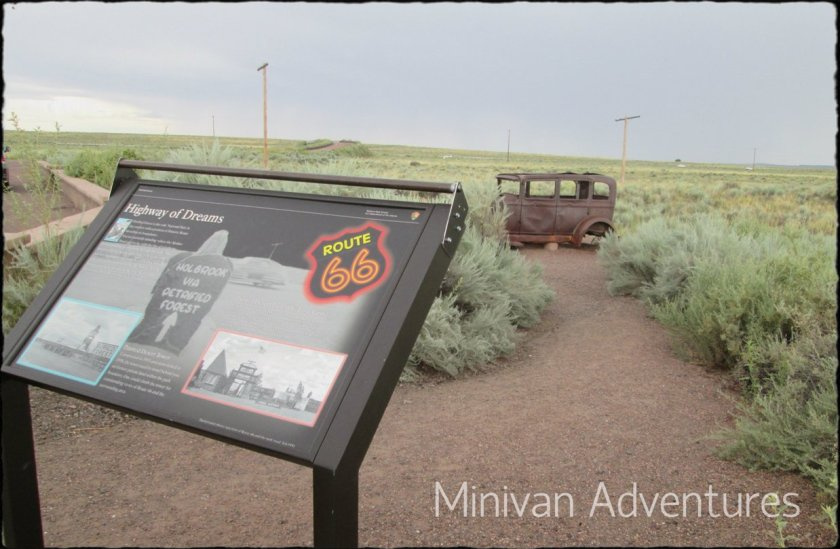 Route 66 once went right through the Painted Desert in Arizona.