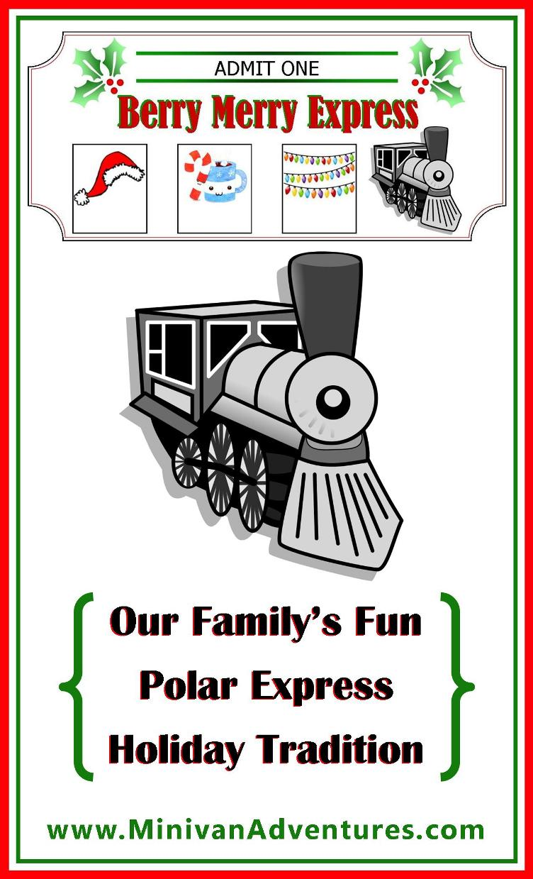 photo relating to Polar Express Train Ticket Printable titled Our Polar Categorical Trip Culture Minivan Adventures