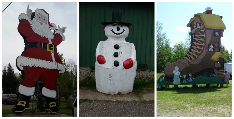 Christmas Roadside Attractions: World's Largest Santa, World's Largest Concrete Snowman, and the Old Lady Who Lives in a Shoe