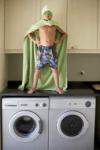 boy on washer