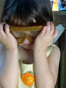 wear safety goggles to stop crying with onions