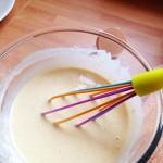 mix the pancake batter until smooth