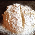 soda bread dough ready for the oven