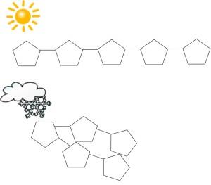 cartoon jelly molecules