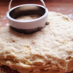 No need for a rolling pin with this soft dough