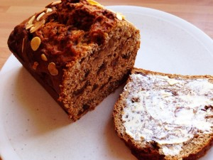 bara brith spread with butter