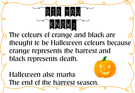 halloween colours fact