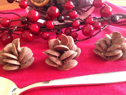 chocolate-button-pinecones