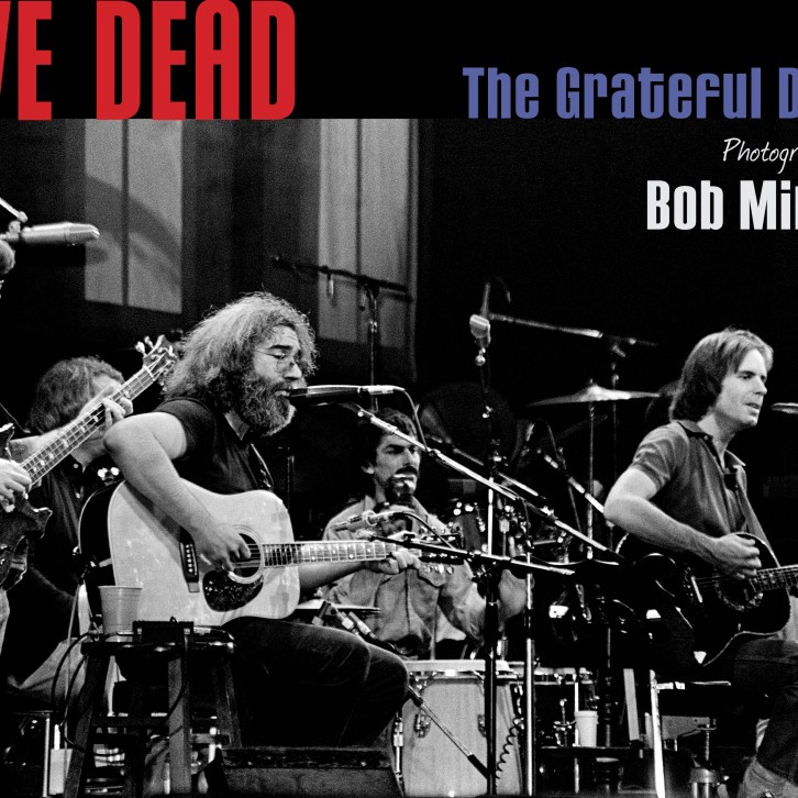 LIVE DEAD, a stunning 224 pg. hardcover coffee table book spanning almost 40 years of epic Grateful Dead photos and stories by Bob Minkin