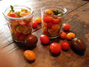 Tomater i glas