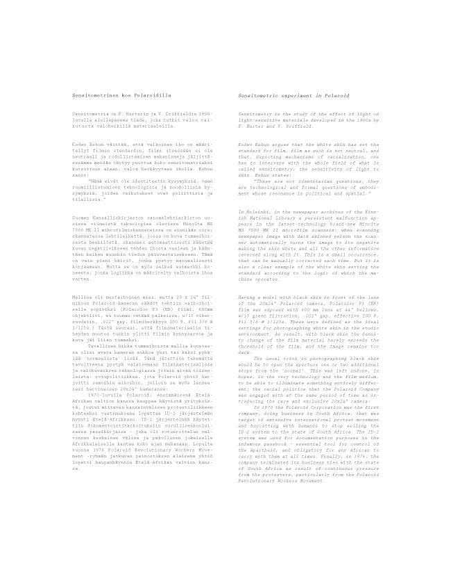 2012 Sensitometric experiment in Polaroid