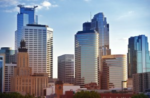 Minneapolis Skyline - Minneapolis Downtown Architecture. Minnesota State, USA. American Cities Photo Collection.