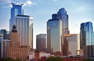 Minneapolis Skyline - Minneapolis Downtown Architecture. Minnesota State, USA. American Cities Photo Collection.