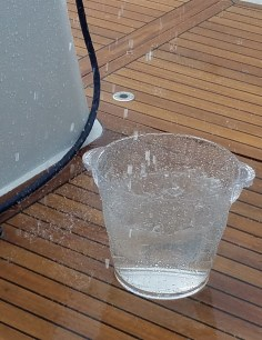 Collecting precious rain water