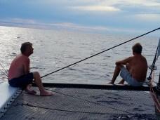 Doug and Rowland enjoy the sail