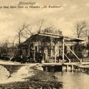 Flapbrug voor de Hervormde pastorie