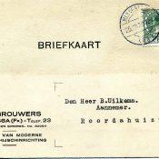 Bewaard gebleven 'SMS-bericht' uit 1930