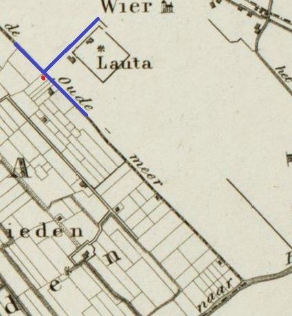 Detail oude landkaart mer Ald Meer