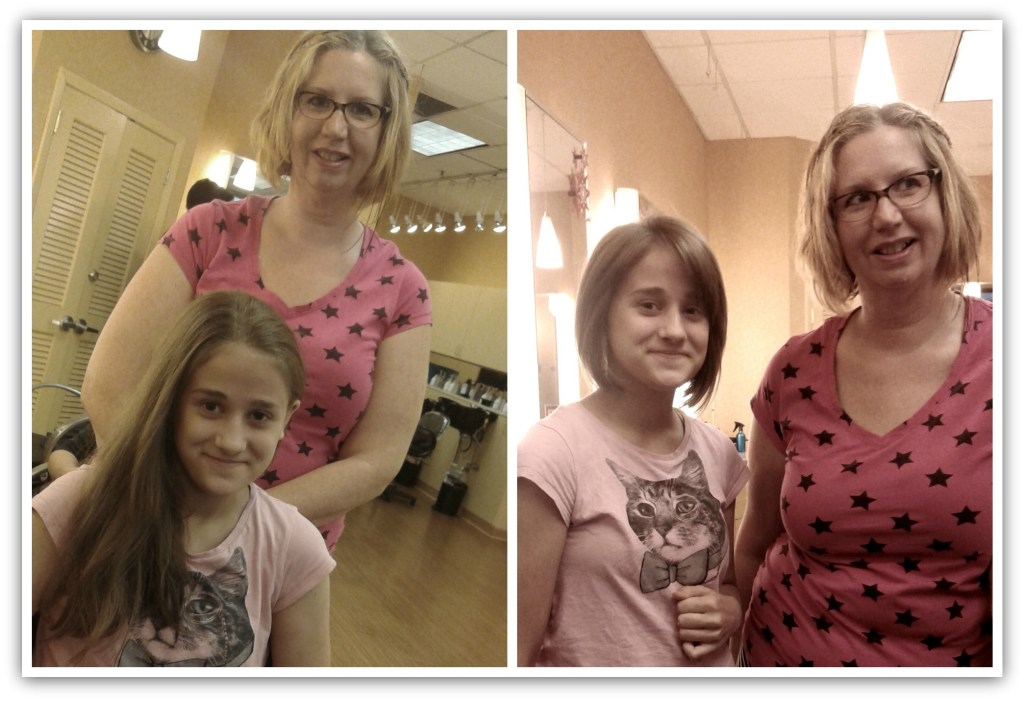 Haircut for Cate (Before & After)