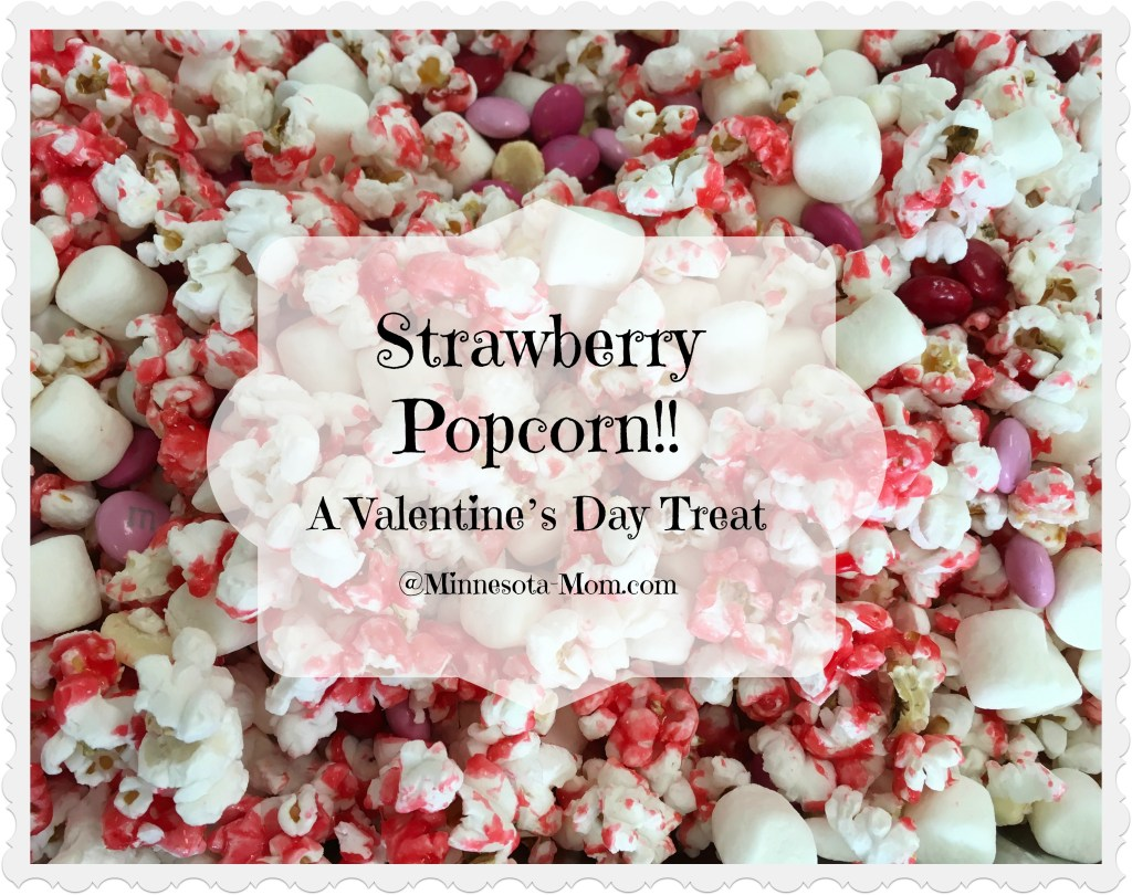 Strawberry Popcorn!! A Valentine's Day Treat