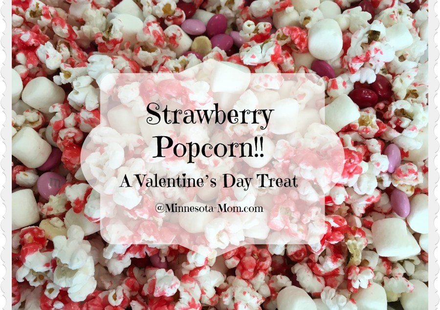 Strawberry Popcorn!! A Valentine's Day Treat