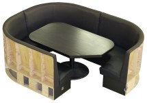 round booth with table
