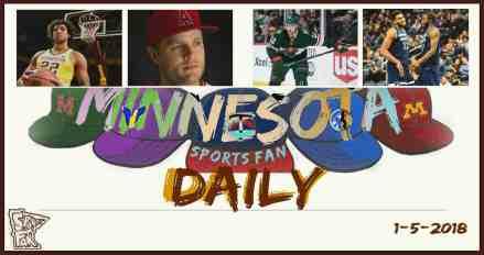 MINNESOTA SPORTS FAN DAILY: Friday, January 5, 2018