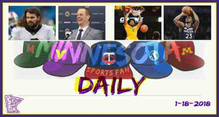 MINNESOTA SPORTS FAN DAILY: Thursday, January 18, 2018