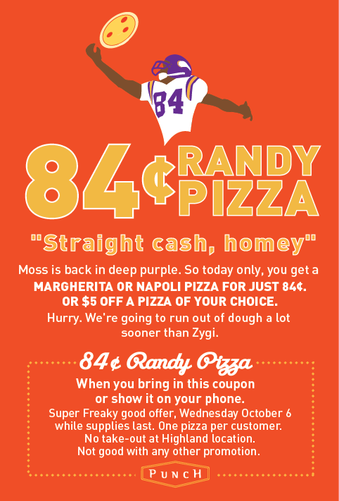 Punch Pizza Randy Moss 84 Cent Coupon
