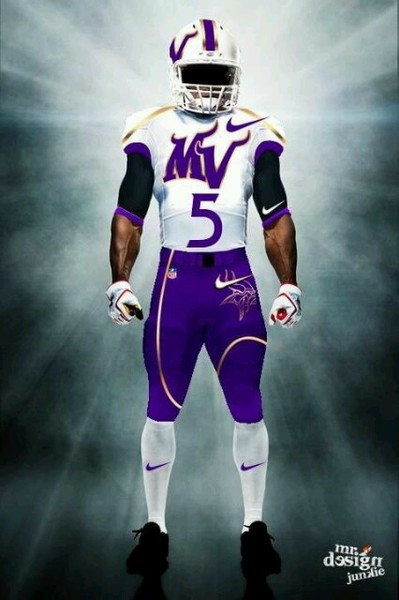 Illustration - Fan Designed Vikings Away Uniform