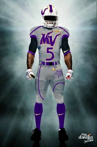 Illustration - Fan-Designed Vikings Gray Away Uniform