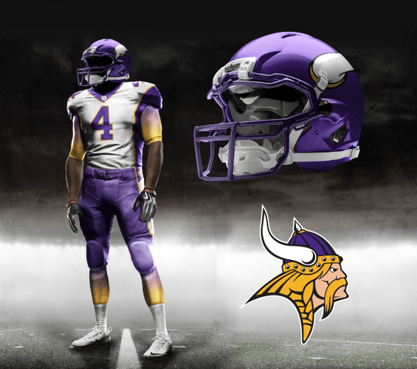 Illustration - New Minnesota Vikings Uniforms - Nike Concept