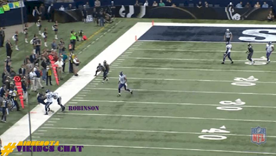 Josh Robinson INT vs Rams