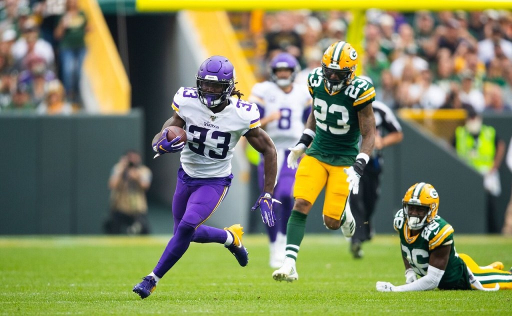 Photo: Dalvin Cook breaks free against the Packers