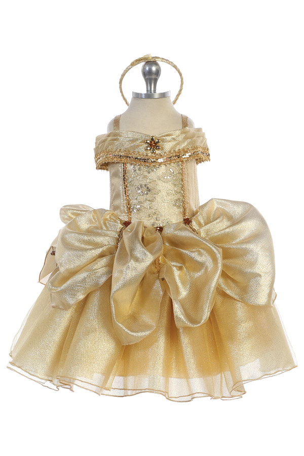 Beauty and the beast golden dress