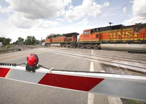 The Supreme Court reinstated a $24 million wrongful death verdict against the Burlington Northern Santa Fe Railway Co. in a case involving the deaths of four people in Anoka in 2003. (File photo: Bill Klotz)