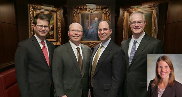 (Left to right) Andrew Davis, Douglas Peterson, Daniel Oberdorfer, and Wade Davis. (Inset) Jennifer Ives.