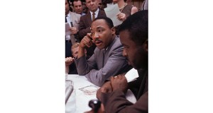 Dr. Martin Luther King Jr. attends a news conference May 9, 1963 in Birmingham, Alabama. AP file photo