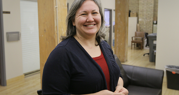 "Kirsten L. Olson, staff attorney and pro bono director at Mid-Minnesota Legal Assistance in Minneapolis, has seen an increase in attorneys wanting to volunteer. ""I think it does have to do with the election,"" Olson said. (Staff photo: Bill Klotz)"