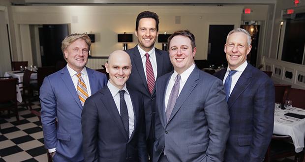 Left to right: Clayton Halunen, Steven Premo, Adam Hansen, Matthew Frank and Steven Andrew Smith.