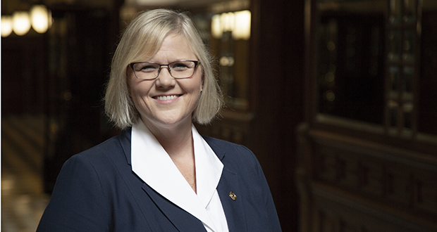 Now serving her ninth House term, Debra Hilstrom always has sat on some iteration of what is now the House Public Safety and Security Policy and Finance Committee. (Staff photo: Kevin Featherly)