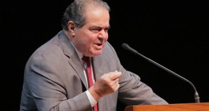 """The late Justice Antonin Scalia, pictured, and co-author Bryan Garner pointed out, """"[W]hen too much is emphasized, nothing is."""" (File photo)"""