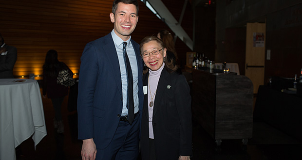 Attorney Ben Kwan and Judge Gail Chang Bohr (ret.) attended an economic espionage program at the University of Minnesota on April 4. (Photo: Rebeccah Parks, U.S. District Court)