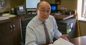 Ramsey County Attorney John Choi, photographed in his office Monday, is cautious about pressuring other Minnesota prosecutors to follow his lead on expungements. Other jurisdictions have different ways of defining justice, he said, and he respects those differences. (Staff photo: Kevin Featherly)